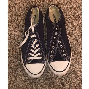 Navy blue size 10 mens women 12 converse